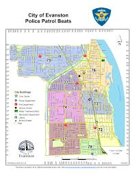Chicago Area Code Map by Maps City Of Evanston