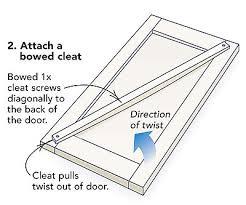 how to fix a warped cabinet door fixing warped cabinet doors fine homebuilding