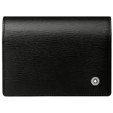 Black Business Card Holder A Estrenar Genuino Montblanc Westside Titular De La Tarjeta De