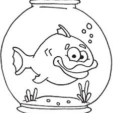long tailed fish in fish bowl coloring page long tailed fish in