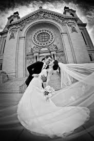 mn wedding photographers just married at the cathedral st paul mn camelot photography