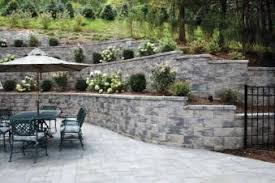 garden wallscape block retaining wall cornerstone solutions