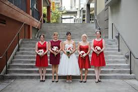 red u0026 white 1960s inspired seattle wedding every last detail