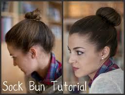 sock hair bun trendy girl nyc hair trend sock bun
