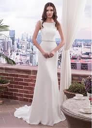 column wedding dresses buy discount charming acetate satin scoop neckline sheath column