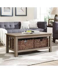 walker edison coffee table deal alert walker edison 40 inch storage coffee table in driftwood