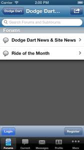 dodge dart app dodge dart org forum on the app store
