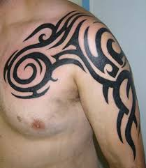leo tribal tattoo on back shoulder for men in 2017 real photo