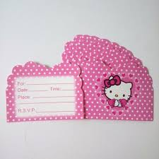Invitation Card Hello Kitty Online Buy Wholesale Kitty Birthday Card From China Kitty Birthday