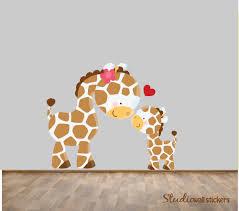 elephant giraffe wall decal vinyl elephant birds monkey giraffe giraffe decal giraffe fabric wall decal by studiowallstickers