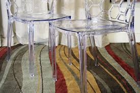 clear dining room chairs baxton studio honeycomb acrylic modern dining chair set of 2