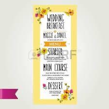 wedding menu template design vector illustration royalty free