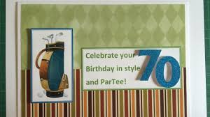 70th Birthday Cards Make A Sporty 70th Birthday Card Diy Guidecentral Youtube