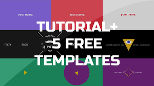 after effects tutorial gif animated banner u0026 5 free templates