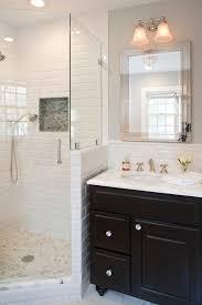 Bathroom Vanity New York by New York Tile Shower Ideas Mirror Bathroom Traditional With Black