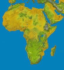 The Map Of Africa Carte Du Relief De L U0027 Afrique Http Www Populationdata Net