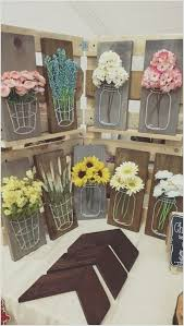 Decorative Crafts For Home Craft A Mason Jar String Art With Wood Yarn And Faux Flowers