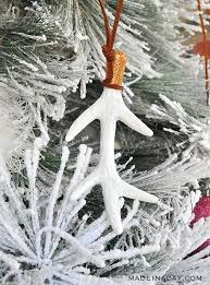gorgeous antler tree ornaments using floral picks made in a day