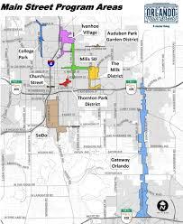 Map Of Orlando Main Street Program City Of Orlando Geographic Information