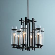 Black Chandelier With Shades Black Chandeliers Shades Of Light