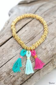 diy fashion bracelet images Diy tassel stretch bracelet step by step darice jpg