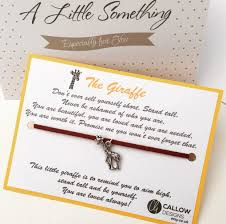 Meaning Of Invitation Card The Giraffe Greetings Card And Charm Bracelet Meaning Quote Yellow