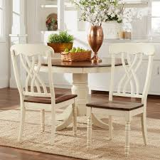 country chairs mackenzie country style two tone dining chairs set of 2 by