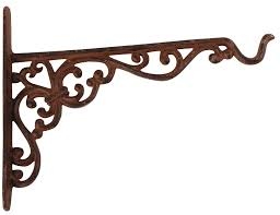 Lantern Hooks Wall Mounted Amazon Com Esschert Design Cast Iron Hanging Basket Hook Large
