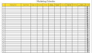 9 best images of marketing plan calendar template content