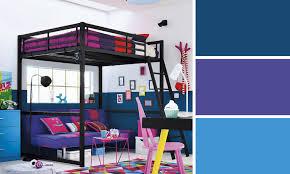 chambre ado fille bleu peinture chambre ado