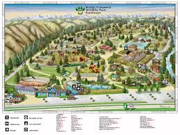 Dallas Suburbs Map by Visitor Park Map Bc Wildlife Park Kamloops