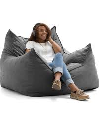 surprise 37 off lux by big joe imperial lounger union bean bag gray