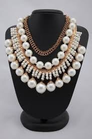 white colour necklace images White colour multilayered pearl necklace keya seth exclusive JPG