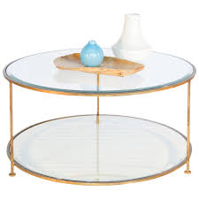 worlds away rollo round gold coffee table