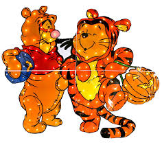 amazon com pooh and tigger costumed yard decoration yard art