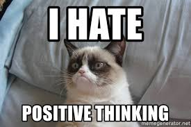 Positive Thinking Meme - i hate positive thinking grumpy cat good meme generator