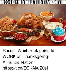 russ s dinner table this thanksgiving westbrook going to