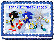 sonic cake topper sonic the hedgehog cake topper ebay