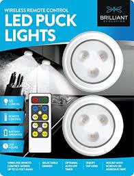 led puck lights amazon brilliant evolution brrc134 wireless led puck light 2 pack with