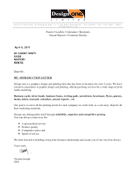 Business Letter Offer design one intro letter