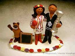 hockey cake toppers wedding cake topper for ukrainian and hockey groom