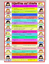 adjective and adverbs worksheets mreichert kids worksheets