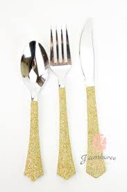 gold plastic silverware dining room gold plastic silverware with glitters gold