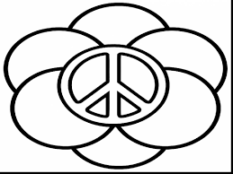 wonderful peace sign coloring pages printable with peace sign