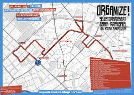 Fau Map Route Antikapitalistische Demonstration U201corganize U201d Am 30 04