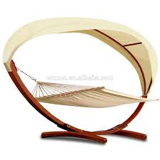 Hammock With Stand And Canopy Kd Design Swing Solid Sunshade Roof Wooden Stand Garden Canopy