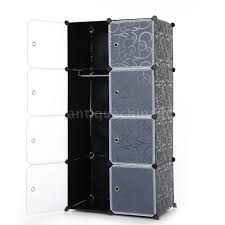 8 cube portable closet storage organizer clothes wardrobe cabinet