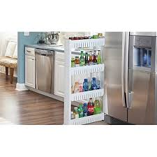 Kitchen Cabinet With Wheels by Slim Storage Food Cleaning Supplies Pantry Cabinet Organizer Slide