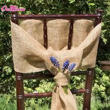 burlap chair sashes burlap chair sashes hessian jute linen chair cover rustic
