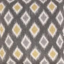 Wool Drapery Fabric Rodrigo Graphite Gray Gold Ikat Cotton Drapery Fabric By Swavelle
